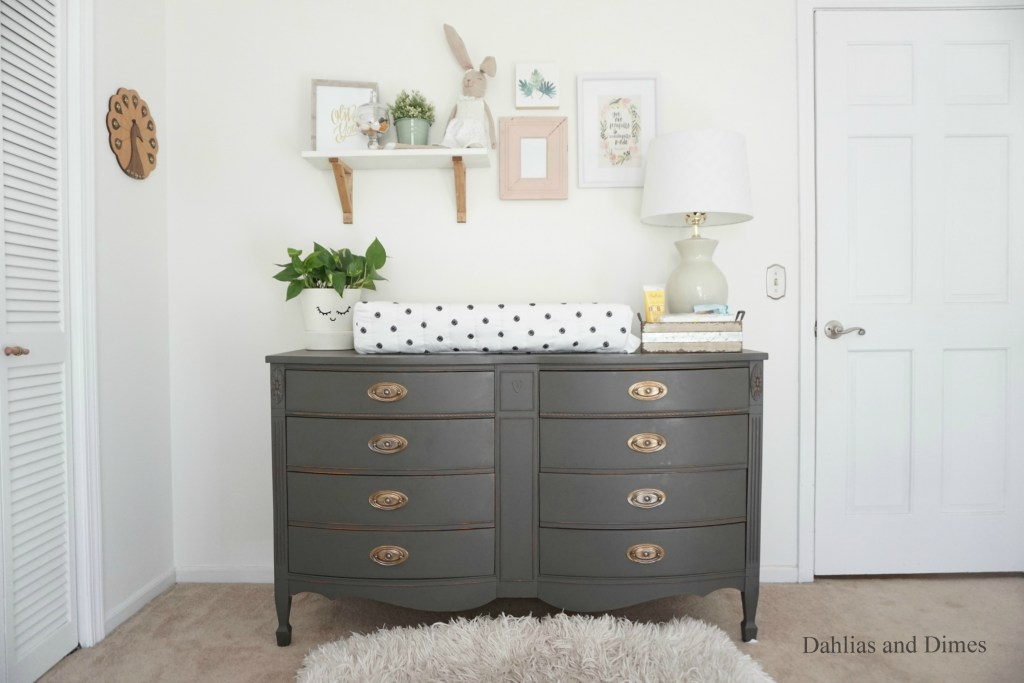 Chalk Painted Changing Dresser