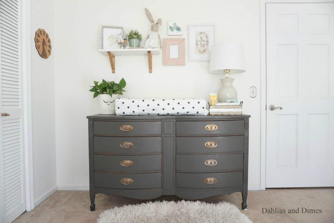 Repurposed Dresser Diy Chalk Paint Recipe One Room Challenge
