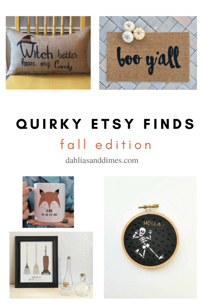quirky etsy fall finds | fall decor