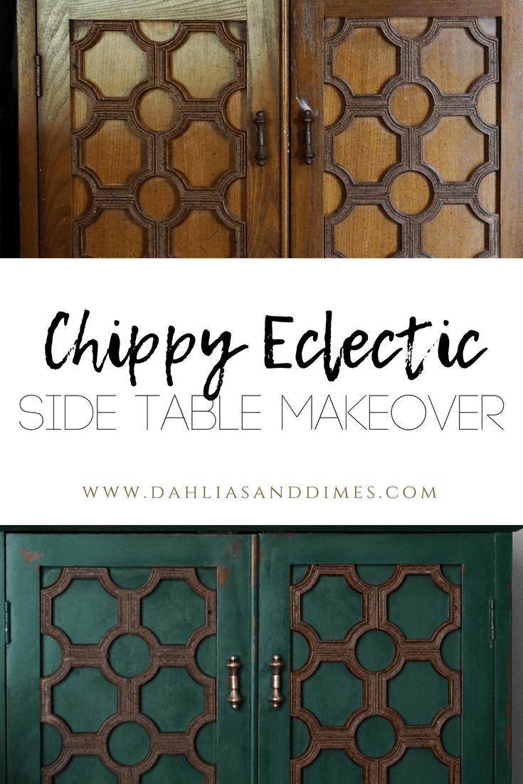 chippy side table