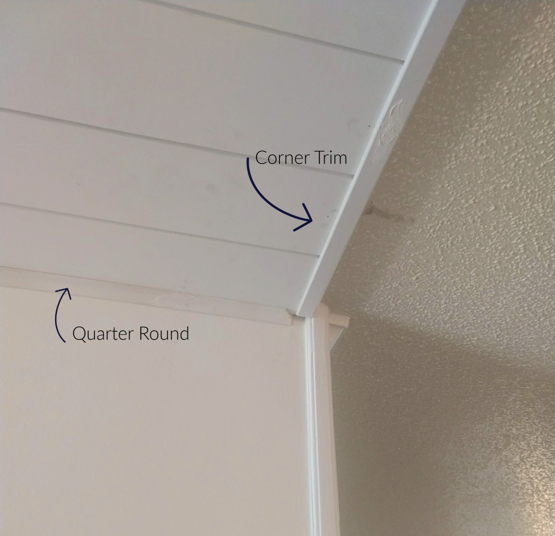 planked ceiling trim