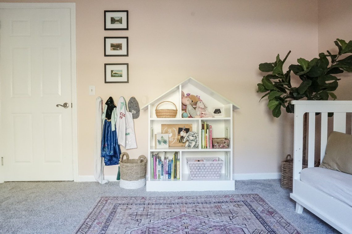 peachy pink toddler room