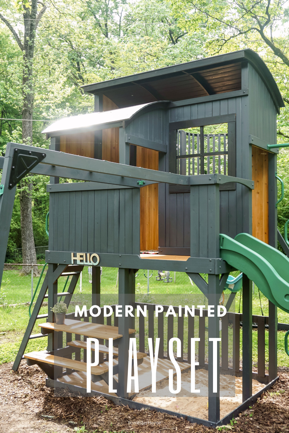 modern painted playset