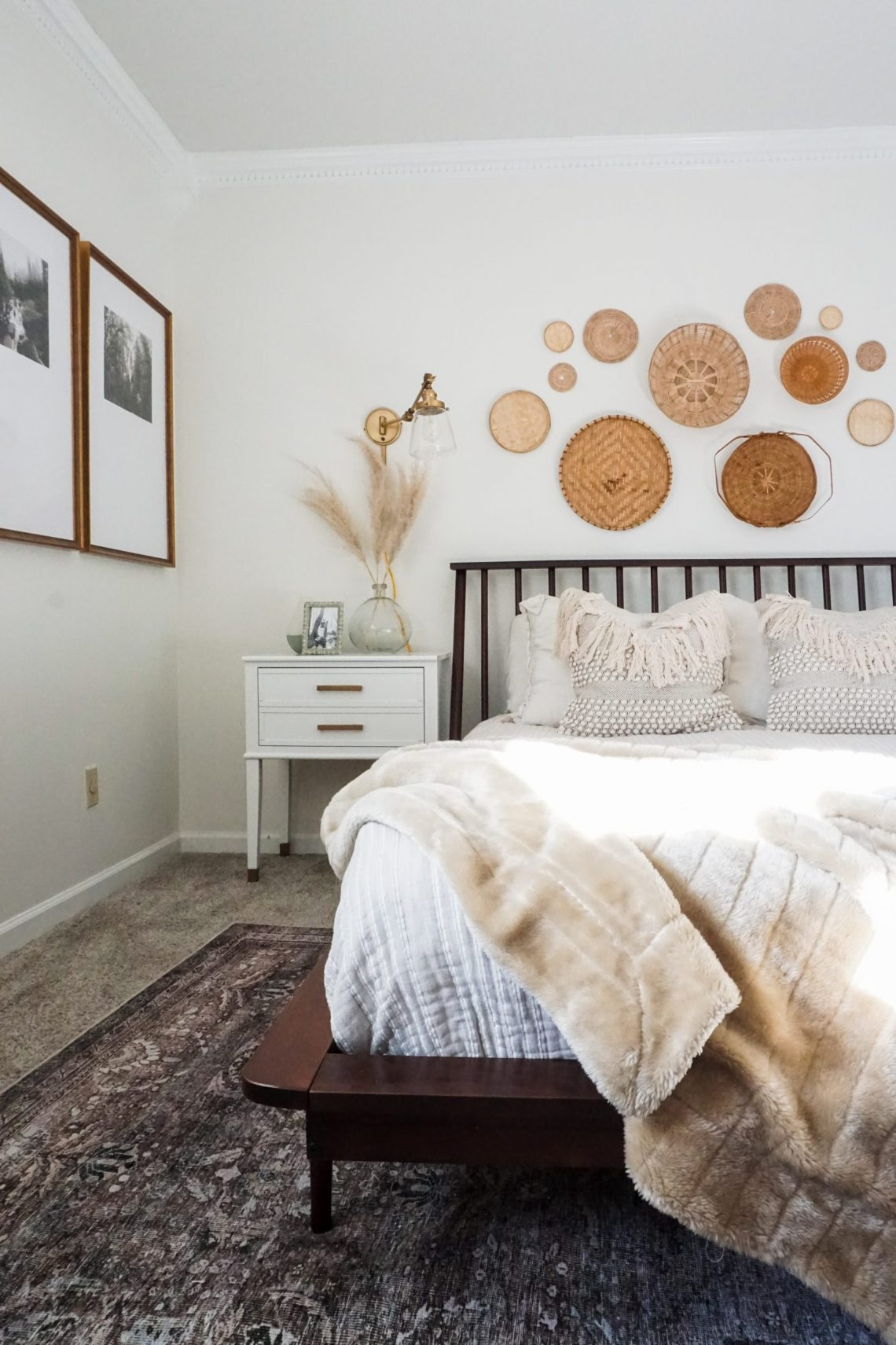 mid century boho bedroom