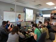 Emily Austen leading floral morphology workshop for Sargent & Forrest labs