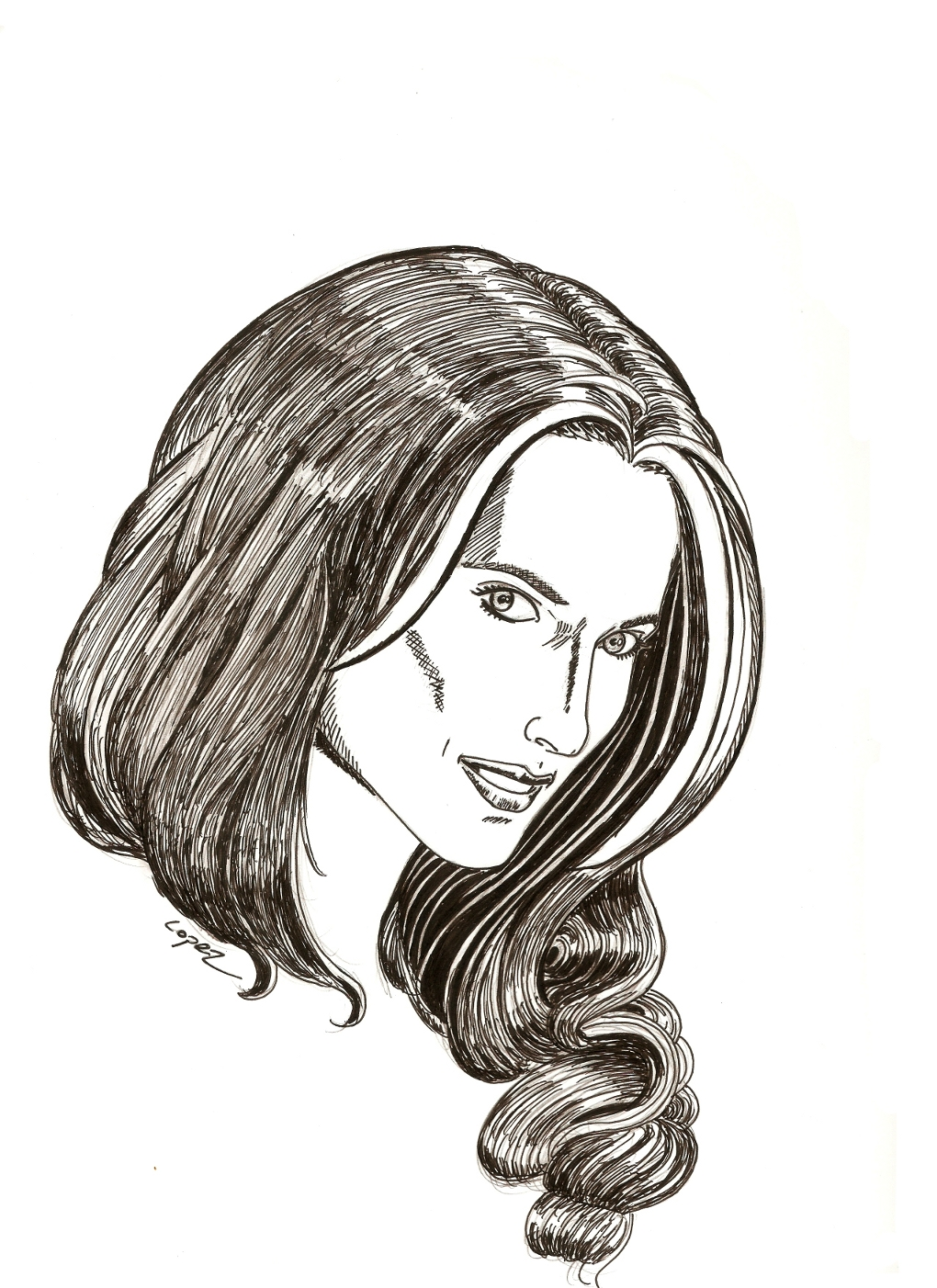 Stana Katic of Castle for Inktober