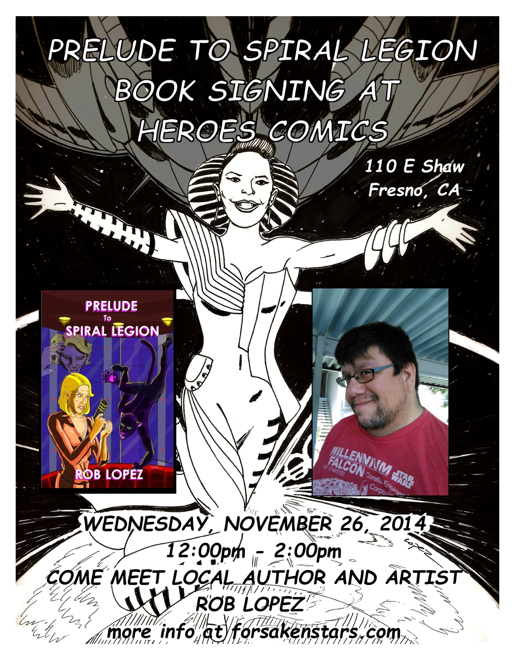 Official Flyer for Book Signing ('Cause I Made It)