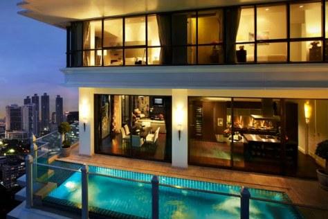 Luxury condominium with a private pool