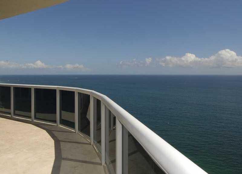 View from the sweeping deck of a penthouse here on Galt Ocean Mile