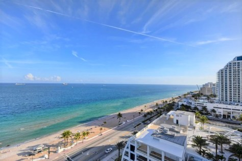 View from a Luxury Fort Lauderdale oceanfront condo sold in The Atlantic Hotel in 2017