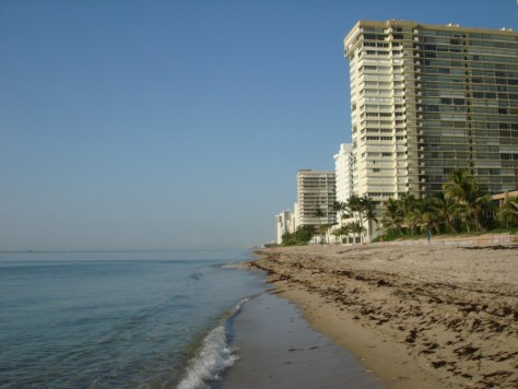 View of Galt Ocean Mile condominiums from Ft Lauderdale Beach