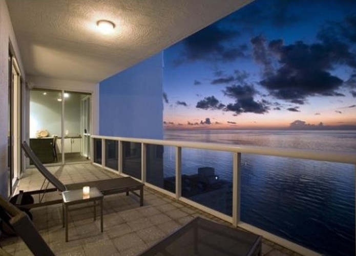 View of sunrise from L'Ambiance condominum here on Galt Ocean Mile Ft Lauderdale
