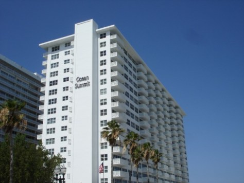 View of Ocean Summit condominium Ft Lauderdale