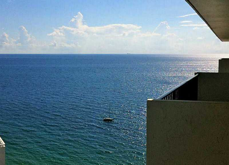 View of the Ocean from Ocean Riviera condominium here in Ft Lauderdale