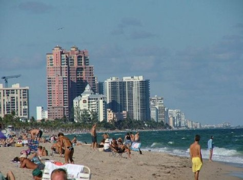 View of Fort Lauderdale Oceanfront condos all the way to Galt Ocean Mile