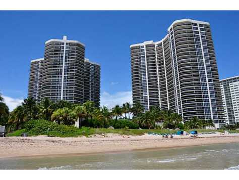 View of L'Hermitage condominium Fort Lauderdale from the beach