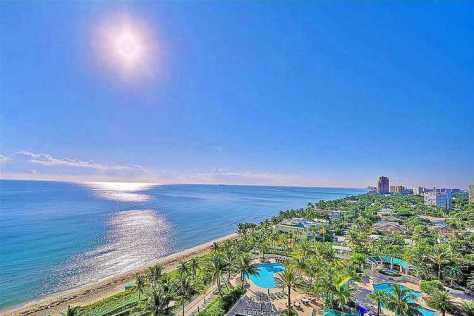 Ocean views from a condo for sale here in L'Hermitage Fort Lauderdale