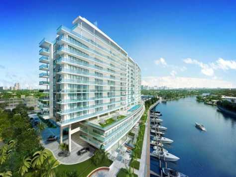 View of a Fort Lauderdale new construction condominium - called Riva