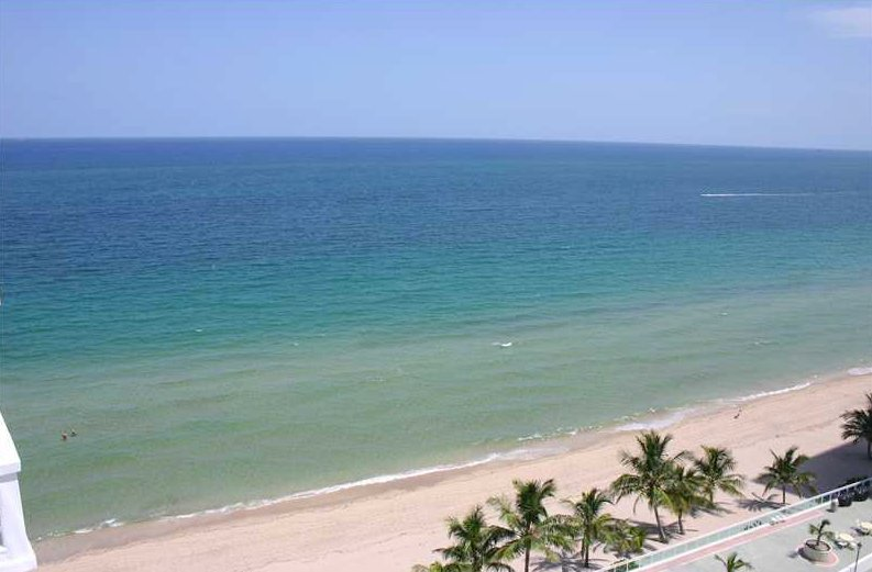 Lovely ocean and beach views from a Fort Lauderdale condo for sale here in Ocean Summit