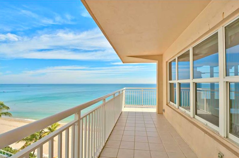 View from a Fort Lauderdale oceanfront condo for sale here in Regency Tower