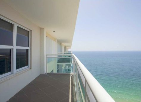 Terrace views from a condo for sale here in Playa del Mar