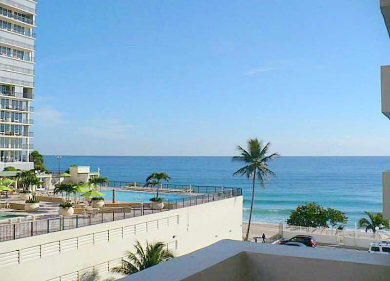 View from a Fort Lauderdale condo for sale here in Galt Towers