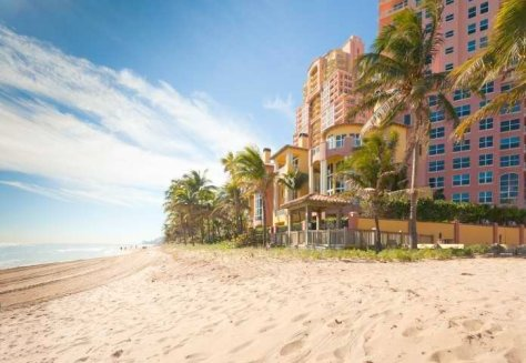 View of Fort Lauderdale luxury oceanfront condos