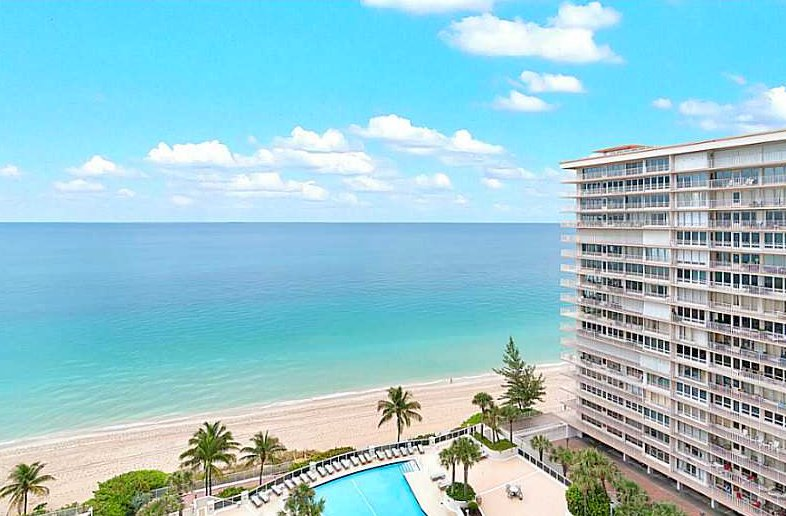 View from a luxury Fort Lauderdale condo for sale in L'Ambiance on Galt Ocean Mile