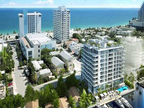 View of condminiums here in North Beach Fort Lauderdale