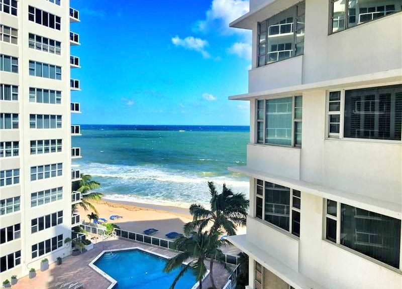 Ocean views Fort Lauderdale condo for sale Edgewater Arms