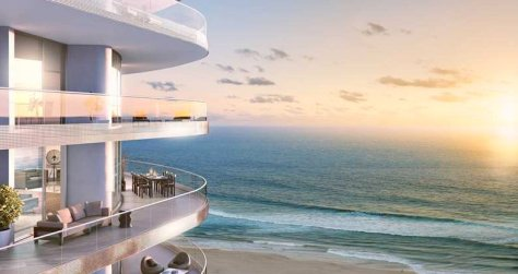 Artists rendering of a luxury new construction oceanfront condo for sale