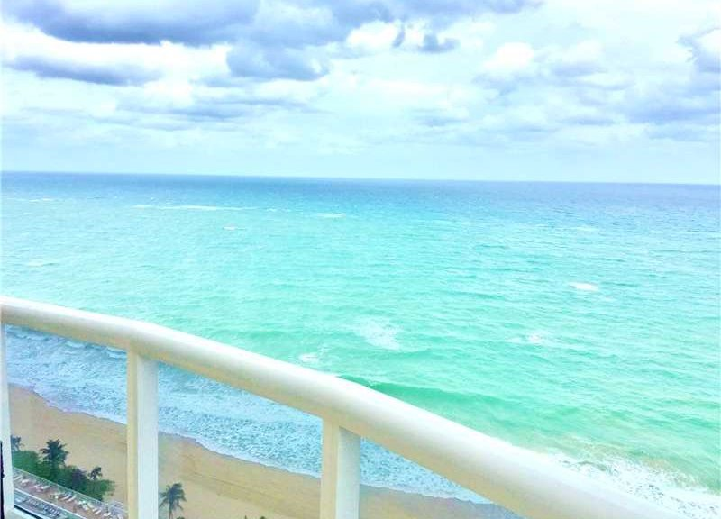 Ocean views from one of the Luxury L'Ambiance condos for sale in Fort Lauderdale