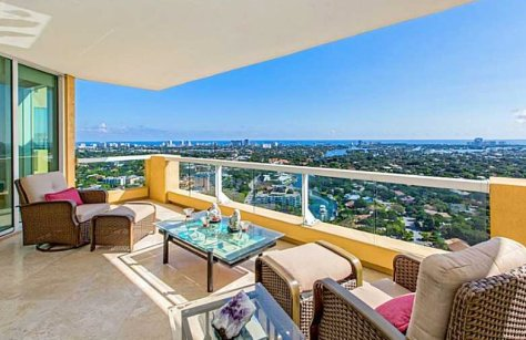 Superb skyline and ocean views from a Fort Lauderdale condo for sale in Las Olas