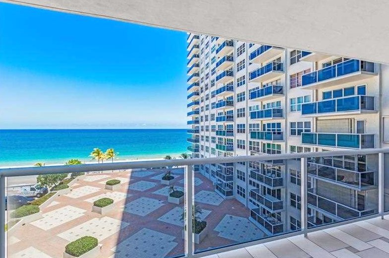 View from Fort Lauderdale oceanfront condo for sale in Playa del Sol