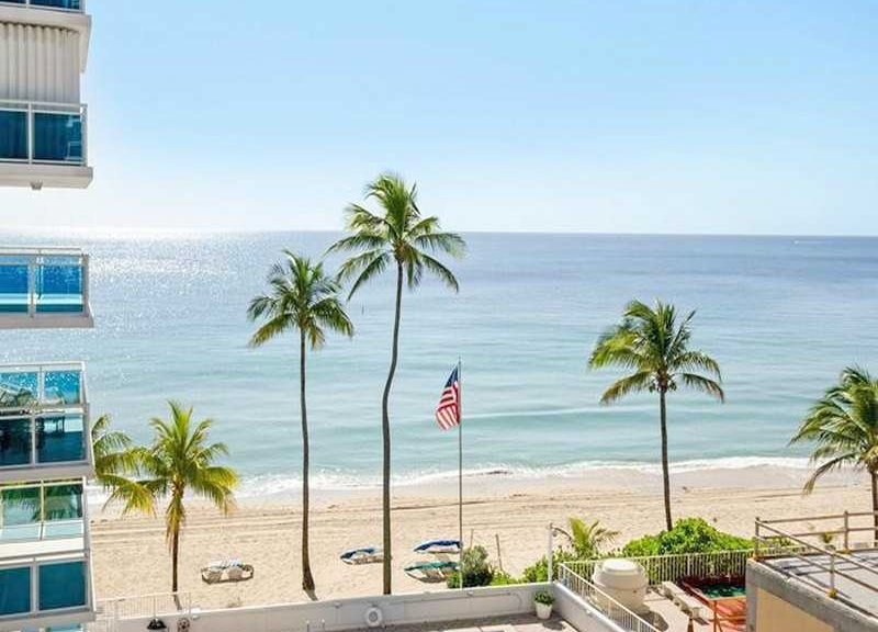 Oceanfront views Fort Lauderdale condo for sale in The Commodore