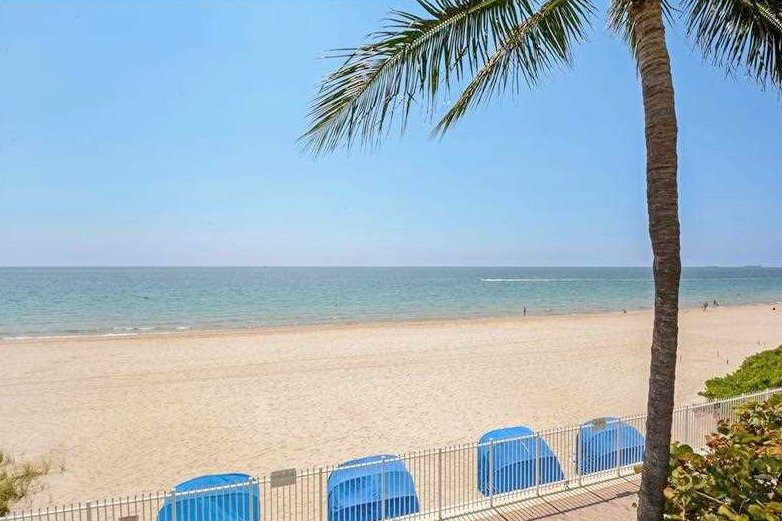 View of beach here at Galt Ocean Mile from one of the Luxury L'Ambiance condos for sale Fort Lauderdale