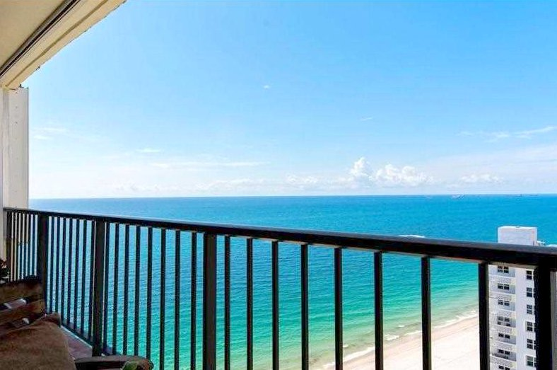 View from one of the Plaza South condos for sale Fort Lauderdale