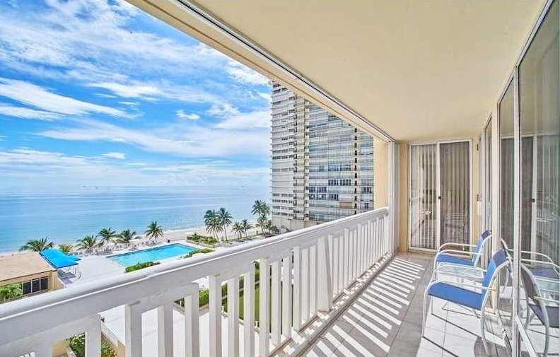 Ocean views from one of the Plaza East condos for sale Fort Lauderdale