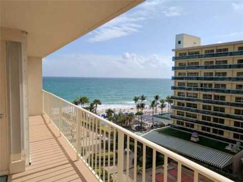 View from a 2 bedroom Galt Ocean Mile condo just listed for sale in The Galleon