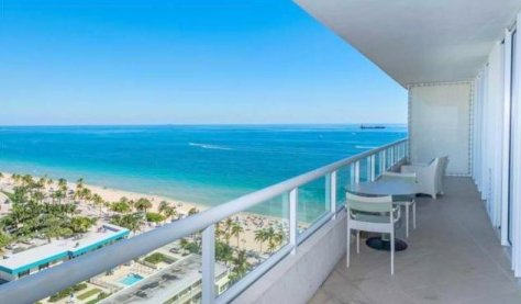 View from a 3 bedroom Fort Lauderdale oceanfront condo for sale