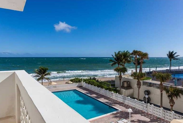 View from one of the Fort Lauderdale condos for sale Galt Towers Galt Ocean Mile