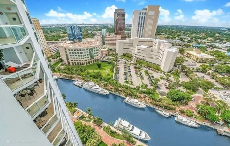 View from a 2 bedroom Fort Lauderdale condo for sale in Las Olas