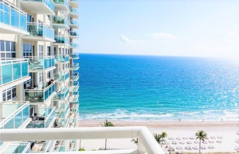 View from a 2 bedroom Galt Ocean Mile condo for sale in Playa del Mar