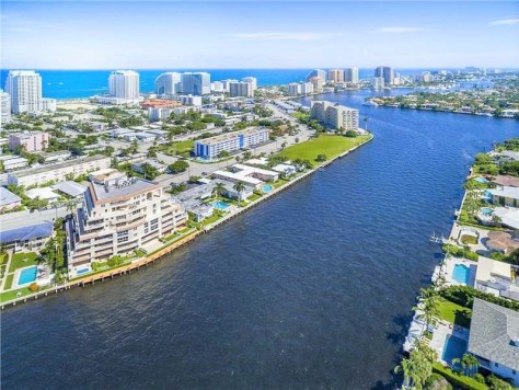 View of Fort Lauderdale condos here on the Intracoastal