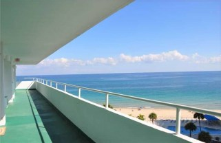 View from one of the Caribe condos Lauderdale by the Sea