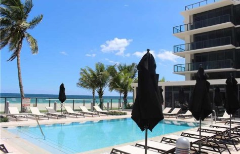 Pool views popular pet friendly Fort Lauderdale condominium
