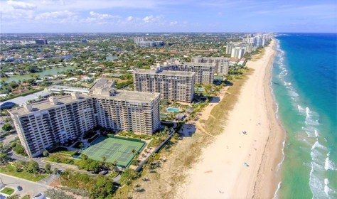 Aerial view Sea Ranch Club condo - Lauderdale by the Sea Fort Lauderdale