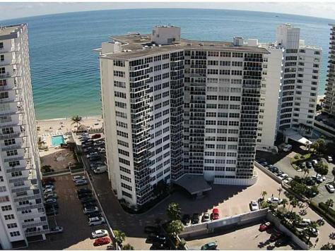 Aerial view Royal Ambassador condominium 3700 Galt Ocean Drive Fort Lauderdale