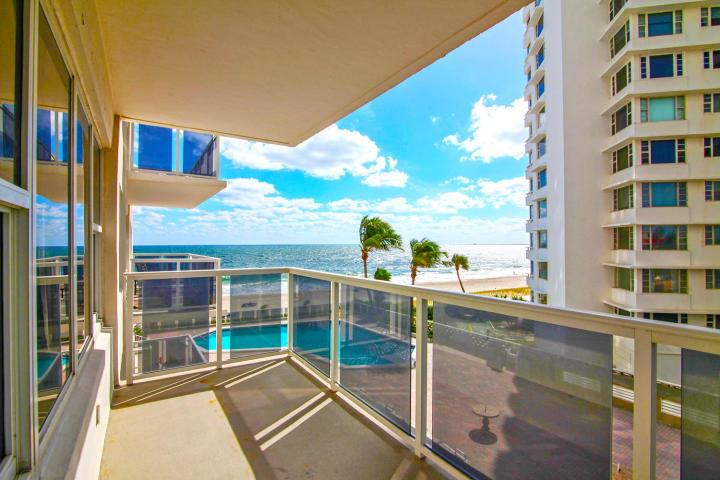 View from one of the 1 bedroom Royal Ambassador Fort Lauderdale condos sold in 2017 - Unit 308