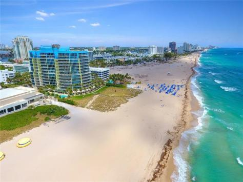 Aerial view of some of Fort Lauderdale's oceanfront condos